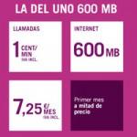 Aumentará la tarifa del Uno 600 Mb de Yoigo