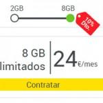 La Tarifa de 8 Gb de MásMóvil ahora se puede contratar por 24 euros