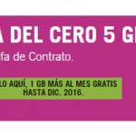 La nueva Tarifa del Cero 5 Gb de Yoigo estará disponible un año