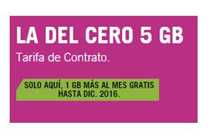 La Tarifa del Cero 5 Gb de Yoigo estará disponible un año
