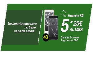 """Amena y su """"ofertón"""" del día: BQ AQUARIS X5 a sólo 5,25 euros por mes"""