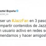 Jazztel recuerda a sus usuarios cómo pueden convertirse en el Jazzfan de marzo