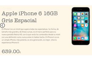 El iPhone 6 con grandes beneficios en la tienda oficial de Lowi