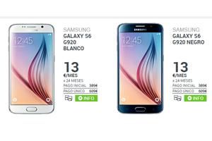 Más Móvil ofrece el Samsung Galaxy S6 a sólo 13 euros por mes