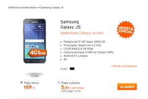 Simyo y la rebaja estrella de la semana: Samsung Galaxy J5