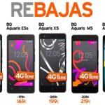 Simyo lanza la gama de móviles libres BQ Aquaris en oferta especial