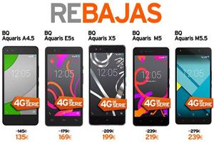 Simyo lanza la gama de móviles libre BQ Aquaris en oferta especial