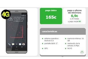 l HTC Desire 530 a precio especial por días limitados en Amena