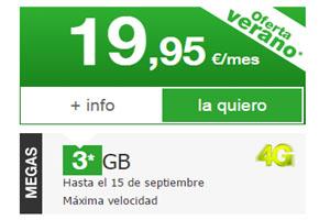 Amena te da 3 GB para navegar en tu tarifa de 19, 95 euros por tiempo limitado