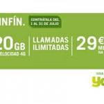 La SinFín de Yoigo vuelve con 20 Gb para este verano