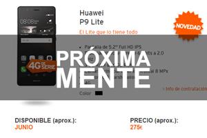Simyo anuncia una de las grandes noticias del mes: la llegada del Huawei P9 Lite.