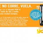 Vuela gratis con Yoigo y Alcatel