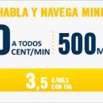 500 MB para navegar y llamadas a 0 céntimos por 3,5 euros sólo con Happy Móvil