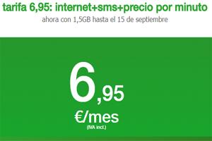 1,5 GB por 6,95 euros al mes: En Amena hasta el 15 de septiembre