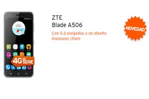 ¡Novedad!: El ZTE Blade A506 a sólo 4,5 euros al mes con Simyo