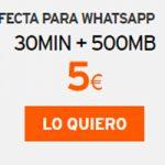 Whatsapea sin parar con Simyo y su tarifa lista para llevar 30/500