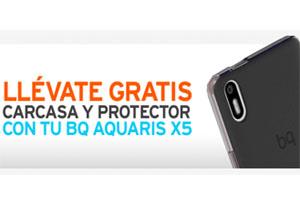 En Simyo el BQ Aquaris X5 viene con carcasa y protector gratis