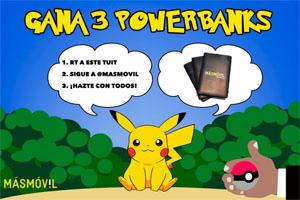 Llévate un powerbank para jugar Pokémon GO a tus anchas con Más Móvil
