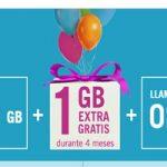 Al darte de alta o aplicar tu portabilidad en Yoigo: 1 GB extra por cuatro meses