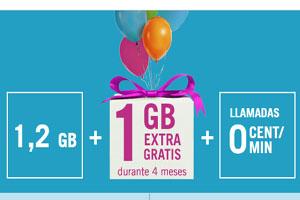 Al darte de alta o aplicar tu portabilidad en Yoigo: 1 GB extra por cuatro mese