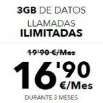 3 GB para datos y llamadas ilimitadas en Más Móvil a precio rebajado durante tres meses