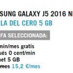 Llévate a casa el Samsung J5 por 1 euro al mes con la del Cero 5GB sólo de Yoigo
