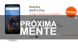 Se aproxima la llegada del Wileyfox Swift 2 Plus a la tienda oficial Simyo