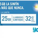 La Sinfín Yoigo ahora con 25 GB