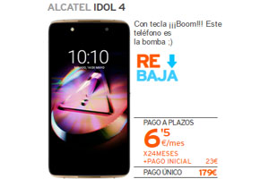 En Simyo el Alcatel Idol 4 a 6,5 euros por mes