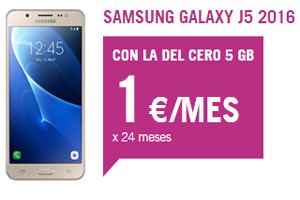 Llévate con Yoigo el Samsung Galaxy J5 a ¡1 euro al mes!