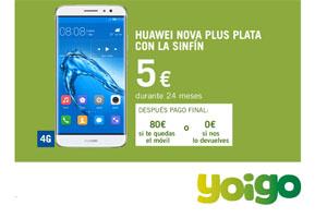 Yoigo tiene el Huawei Nova Plus con la Sinfín a 5 euros por mes