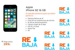 El iPhone SE de 16 GB acaba de bajar en Simyo