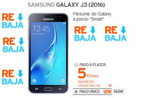 El Samsung Galaxy J3 tiene descuentazo de 36 euros en Simyo