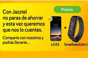 Apúntate para ganar un paquete de móvil y smartband con Jazztel
