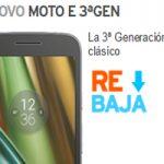 En Simyo el Lenovo Moto E 3ra generación ha bajado 30 euros en su costo regular