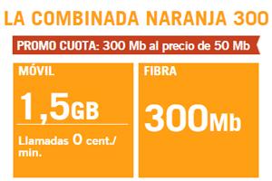 Ya está disponible de Combinada Naranja 300 de Yoigo