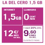 ¿Ya conoces la nueva tarifa del Cero 1,5 GB de Yoigo?