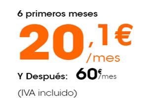 Servicio móvil, residencial y televisión por 20,1 euros en Euskaltel por tiempo limitad