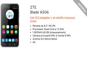 El ZTE Blade A506 con rebaja de 16 euros en Simyo
