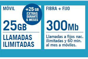 Yoigo estará ofreciendo 50 GB por tiempo limitado a los usuarios de la tarifa Combinada Azul 300