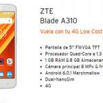 Nuevecito en la tienda virtual Simyo: ZTE Blade A310 a un súper precio