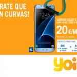 El Samsung Galaxy Edge S7 está en Yoigo con 0% de pago inicial si te lo llevas en mensualidades con la del Cero 5GB