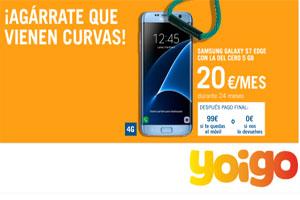 El Samsung Galaxy Edge S7 con 0% de pago inicial con la del Cero 5GB de Yoigo