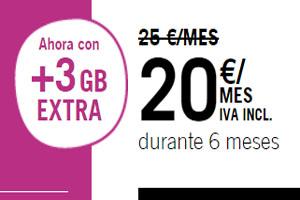 La Infinita 5 GB de Yoigo viene con 3 GB para navegar extra sin costo
