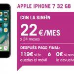 Llevate el iPhone 7 a 22 euros al mes junto con la tarifa del cero 5 GB recargada