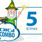 1 GB y mucho para hablar con el Combo 5 de Digimobil que cuesta sólo 5 euros por mes