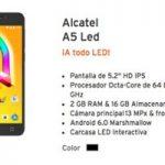 Conoce al Alcatel A5 Led y su carcasa interactiva en Simyo