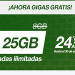 La tarifa Amena de 24,95 al mes te da 25 GB durante el verano
