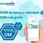 Llévate 2 GB gratis en tu bono de datos de 29 euros de Lycamobile