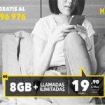 Más Móvil te ofrece llamadas ilimitadas y 8 GB a precio rebajado durante tres meses